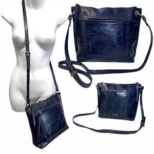Tommy Bahama Blue Leather Crossbody